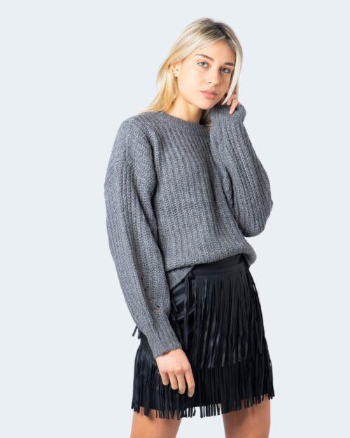 Maglione Vila Clothes Suba Knit O- Neck L/S Top Pb Grigio – 60118