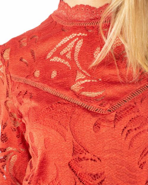 Maglione Vila Clothes Stasia L/S Lace Top-Fav Mattone – 34398