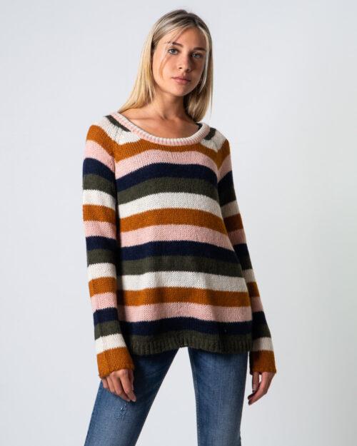 Maglione Vila Clothes NAMO KNIT TIE Ocra – 53811