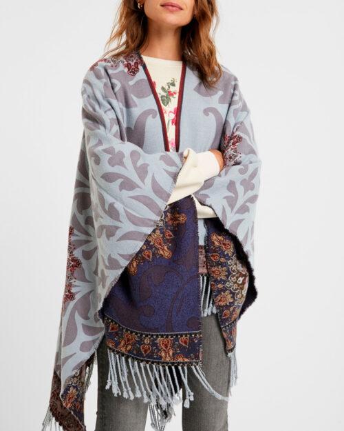 Desigual Mantella Poncho Tapestry Reversible 20WAIW03 - 2