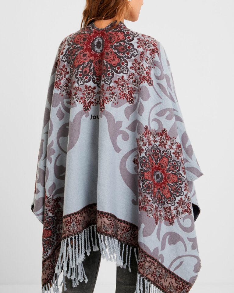 Desigual Mantella Poncho Tapestry Reversible 20WAIW03 - 3
