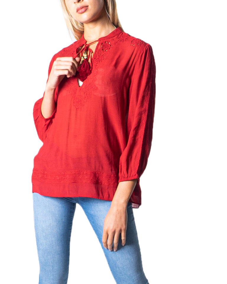 Bluse manica lunga Desigual BLUS ANUSKA Rosso - Foto 5