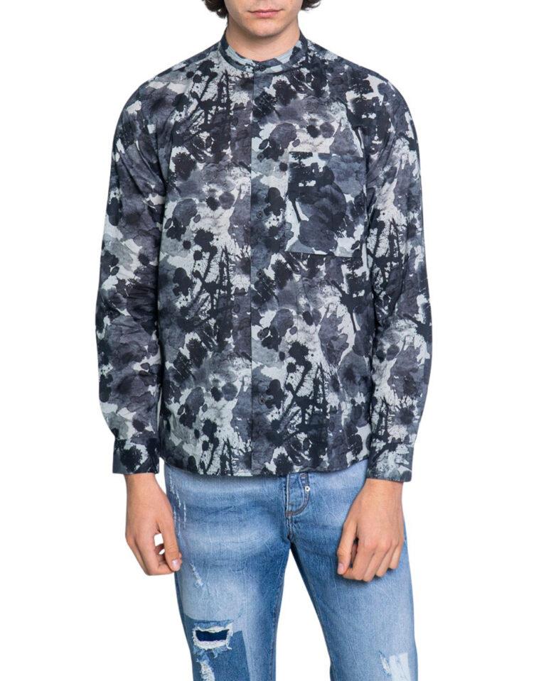 Camicia manica lunga Antony Morato STRAIGTH FIT Blu - Foto 5