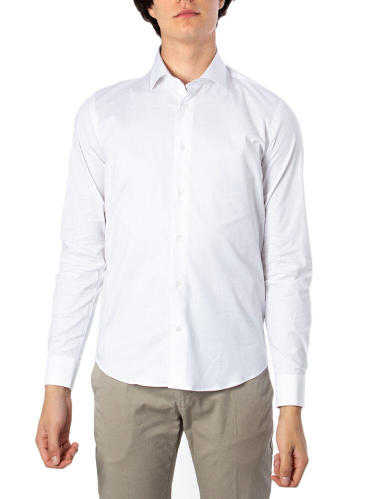 Camicia manica lunga Brian Brome STRETCH FRANCESE Bianco - Foto 5