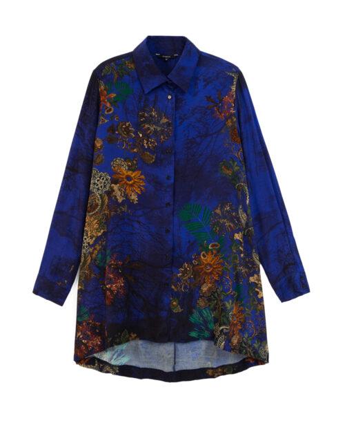 Camicia manica lunga Desigual CAM TAMESIS Blu - Foto 5