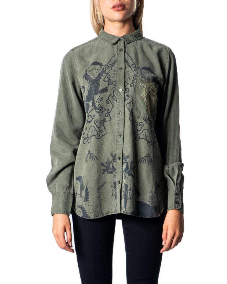 Camicia manica lunga Desigual CAM LIONSLOVE Verde Oliva - Foto 5