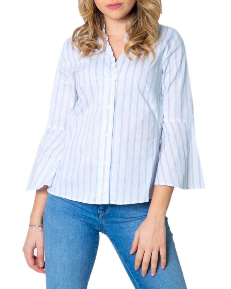 Camicia manica lunga Emme Marella DOMUS Azzurro - Foto 5