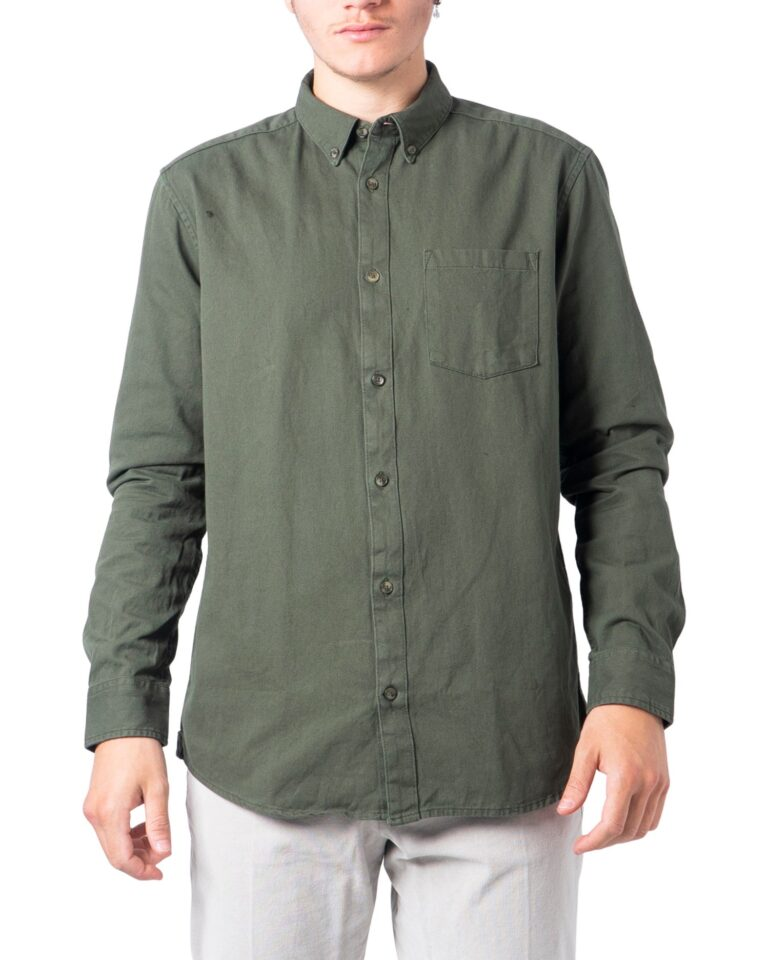 Camicia manica lunga Only & Sons BRYCE Verde Oliva - Foto 5