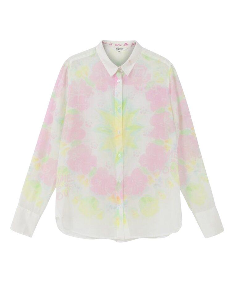 Camicia manica lunga Desigual YUKON Bianco - Foto 5