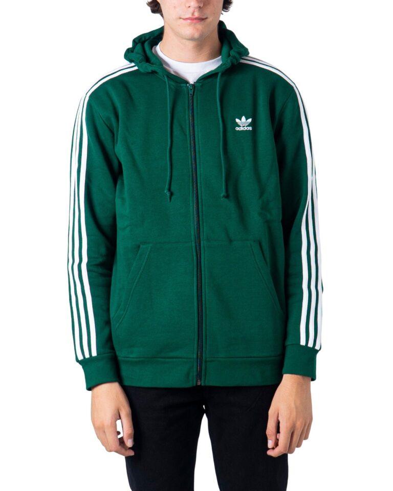 Felpa con cappuccio Adidas 3-STRIPES Verde - Foto 5