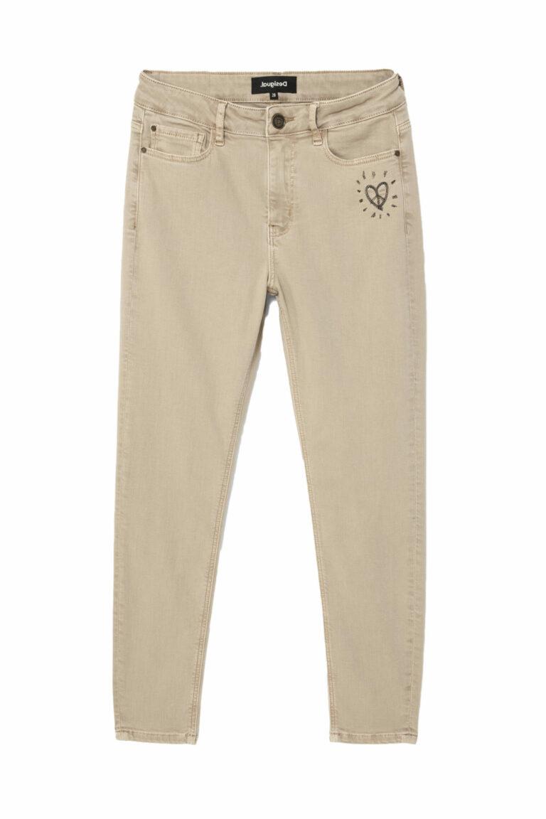 Jeans skinny Desigual Denim Alba Marrone - Foto 5
