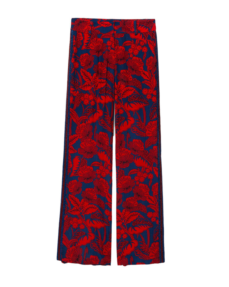 Pantaloni a palazzo Desigual Pant Eritrea Rosso - Foto 5