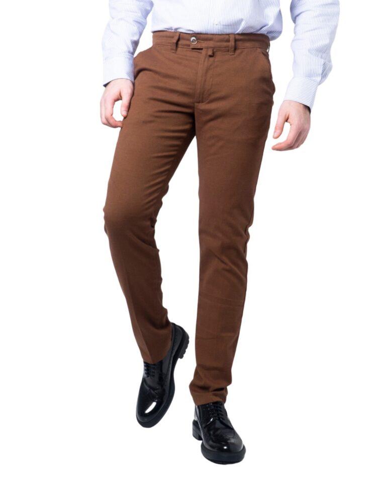 Pantaloni slim ENRICO COVERI ORIONE Marrone - Foto 5