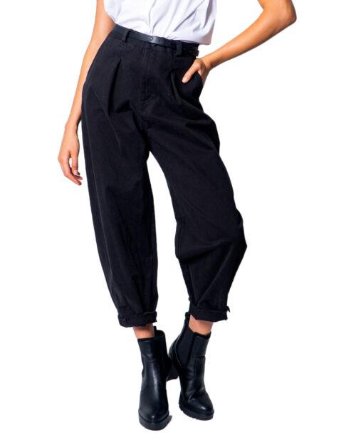 Pantaloni I AM CON PINCES Nero - Foto 5