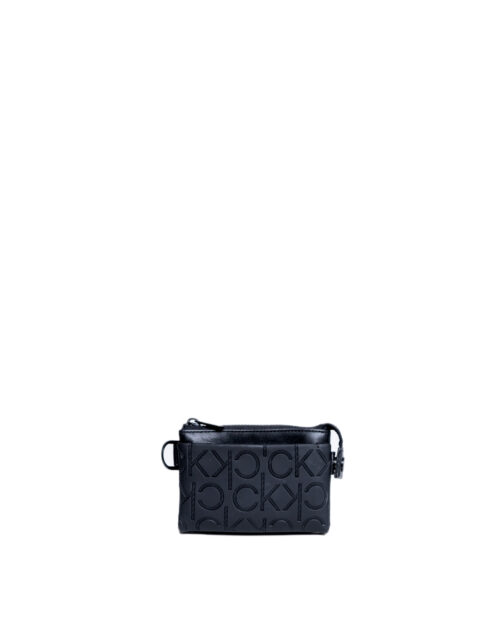 Portafoglio senza portamonete Calvin Klein MONO BLEND ZIPPED POUCH Nero - Foto 5