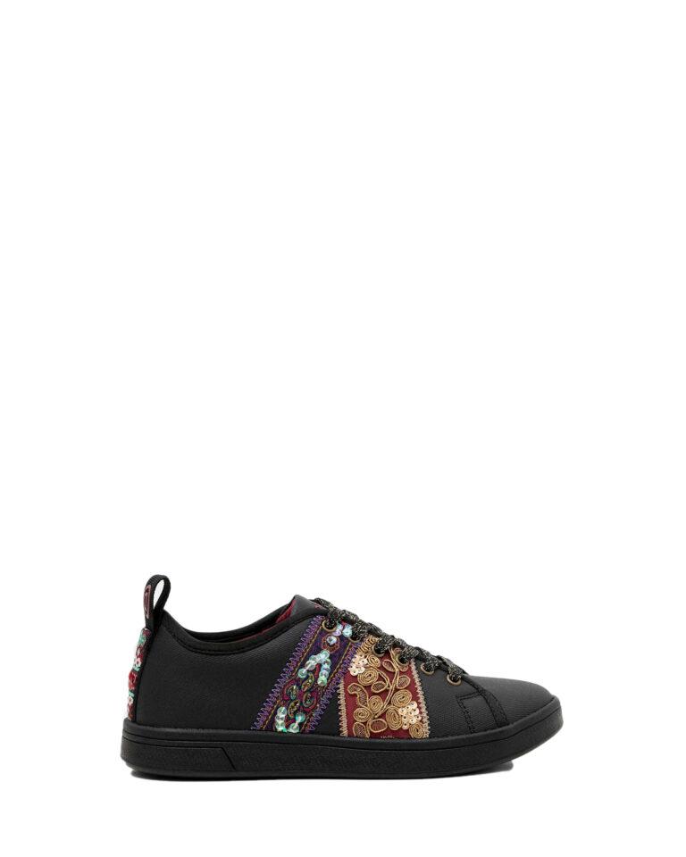 Sneakers Desigual cosmic ribbons Nero - Foto 5