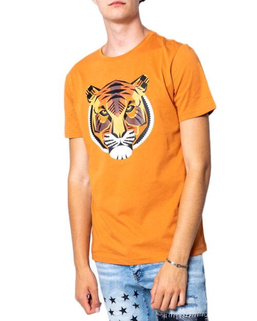 T-shirt Antony Morato REGULAR CON STAMPA TIGRE Arancione - Foto 5