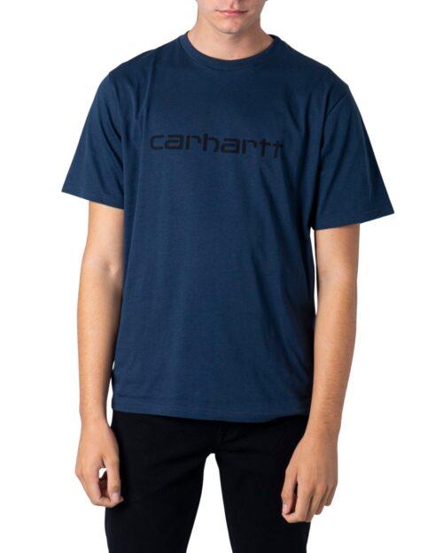 T-shirt Carhartt WIP KOSZULKA SCRIPT Blue scuro - Foto 5