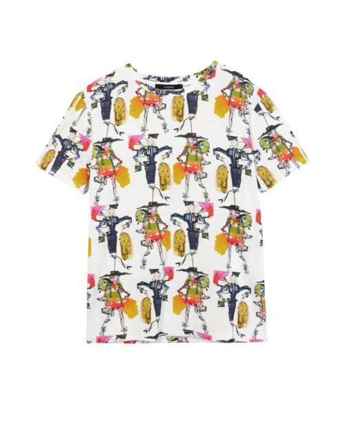 T-shirt Desigual Ts berlin Bianco - Foto 5