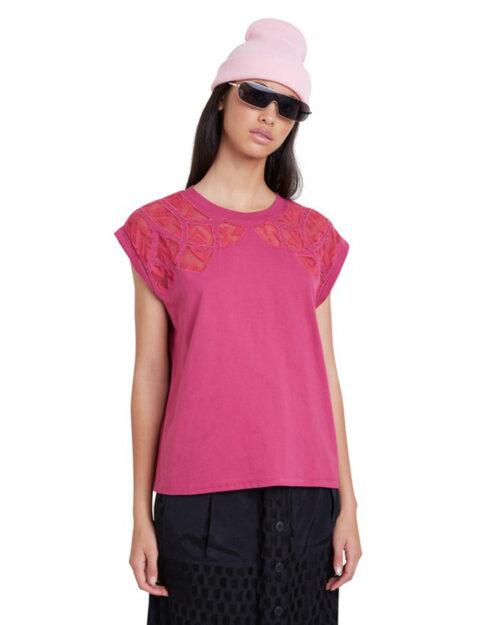 T-shirt Desigual TS LISBOA Fuxia - Foto 5