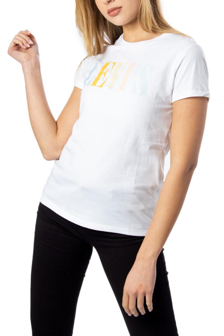 T-shirt Levi's® THE PERFECT Bianco - Foto 5
