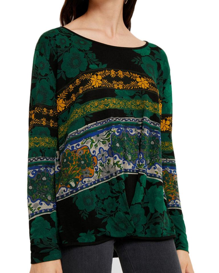 T-shirt manica lunga Desigual Ts yess Verde - Foto 5