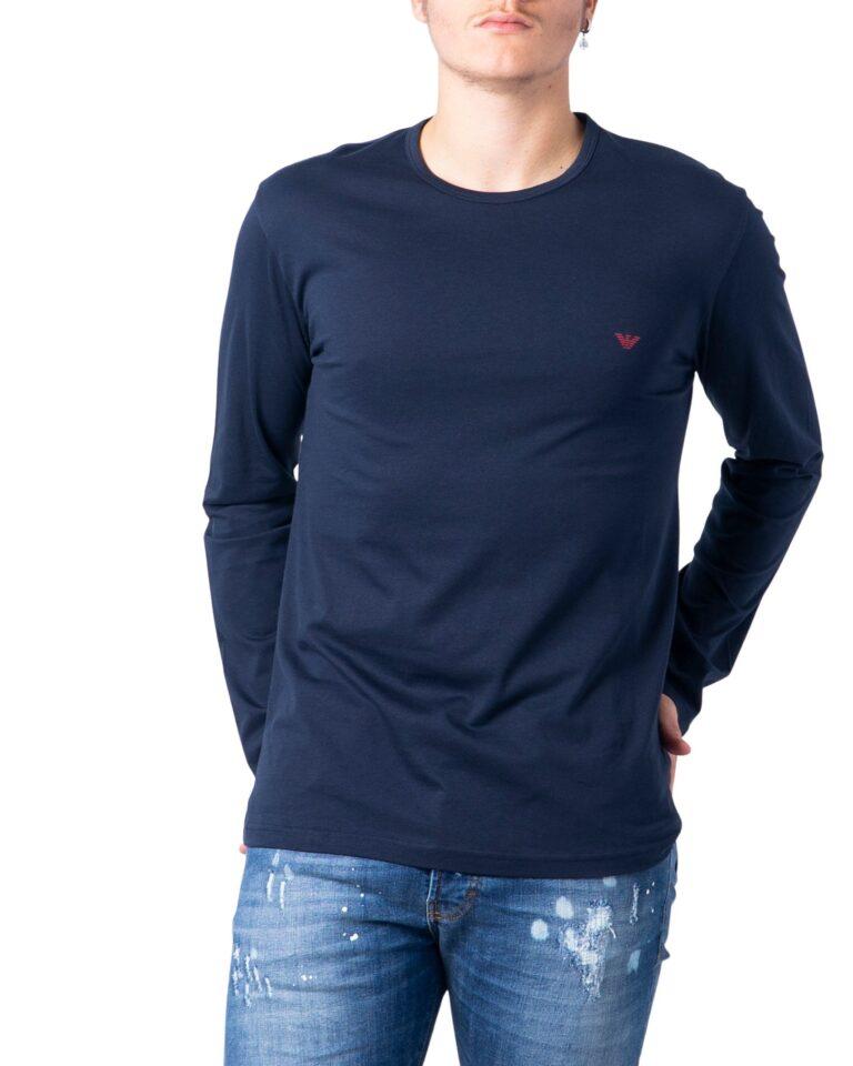 T-shirt manica lunga Emporio Armani CREW NECK L/S LEEVE Blue scuro - Foto 5