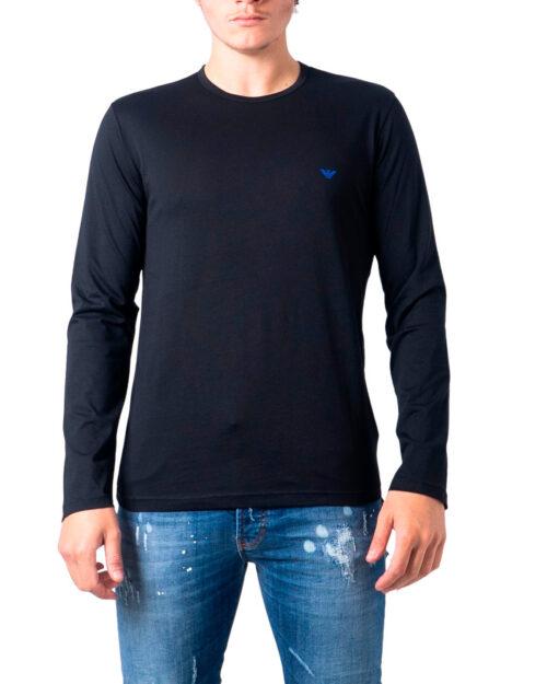 T-shirt manica lunga Emporio Armani CREW NECK L/S LEEVE Nero - Foto 5