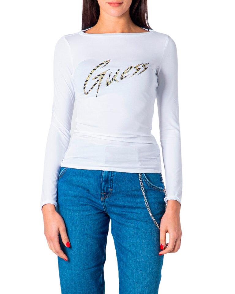 T-shirt manica lunga Guess NORAH TEE Bianco - Foto 5