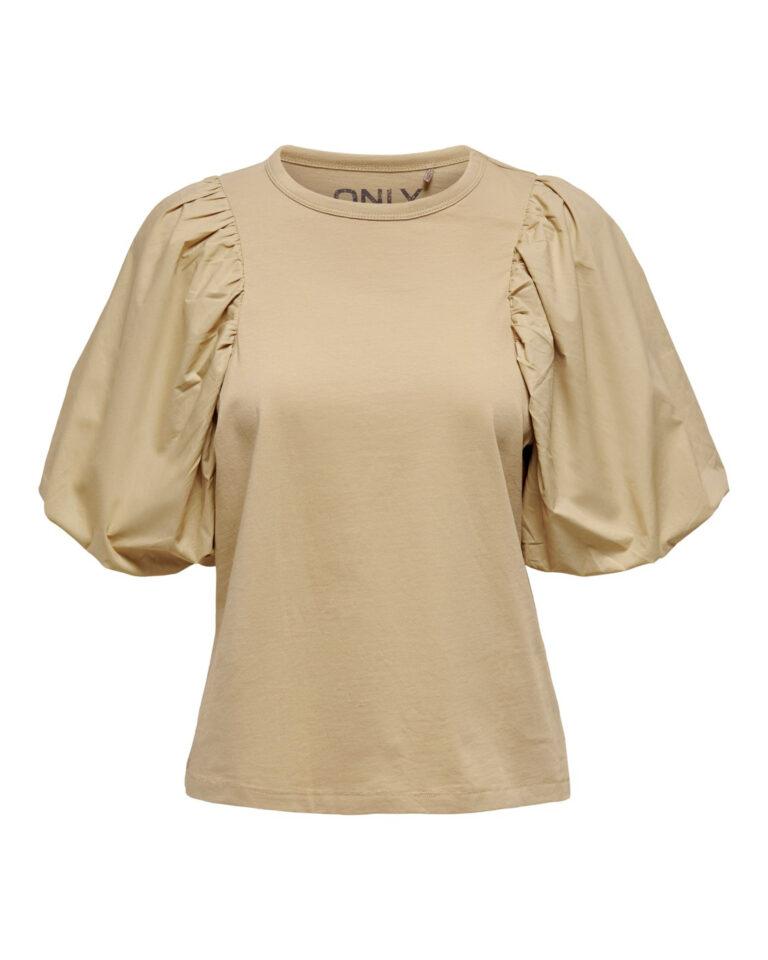 T-shirt Only VERA Beige - Foto 5
