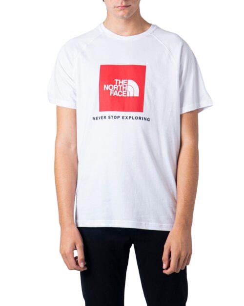 T-shirt THE NORTH FACE RAG RED BOX TE Bianco - Foto 5