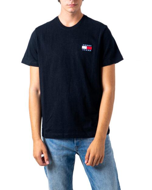 T-shirt Tommy Hilfiger Jeans Badge Nero - Foto 5