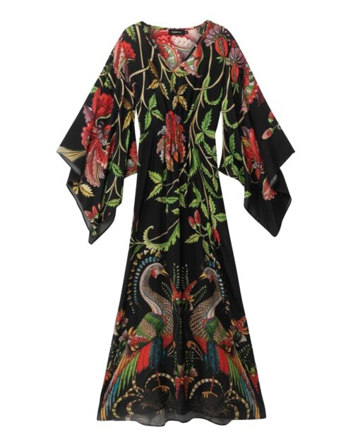 Vestito lungo Desigual LIMOGES Nero - Foto 5