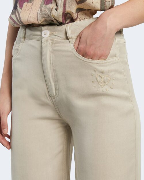 Pantaloni a palazzo Desigual RITA Beige - Foto 3