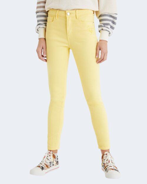 Pantaloni skinny Desigual ALBA Giallo - Foto 1