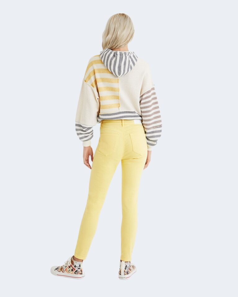 Pantaloni skinny Desigual ALBA Giallo - Foto 3