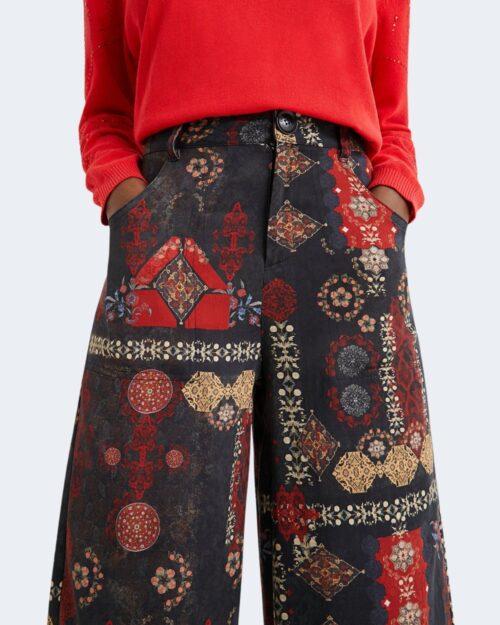 Pantaloni a palazzo Desigual INDA Nero - Foto 4