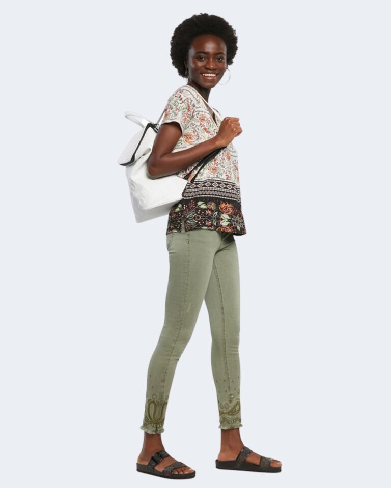 Pantaloni skinny Desigual ANKLE PAISLEY Verde - Foto 1