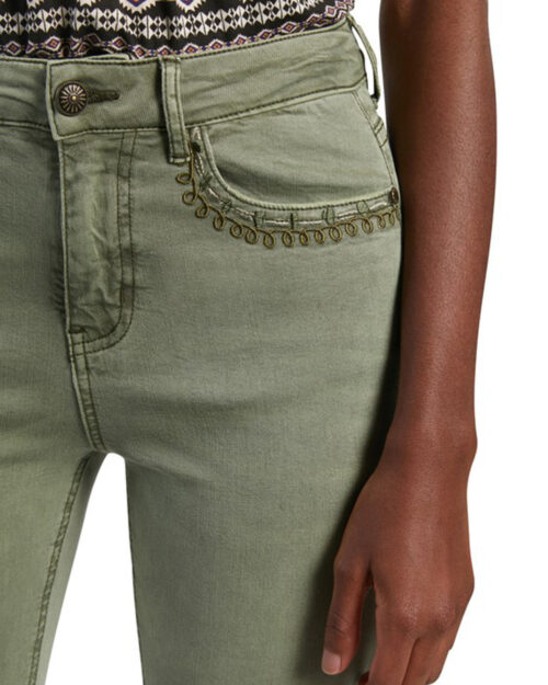 Pantaloni super skinny e skinny Desigual ANKLE PAISLEY Verde – 65599