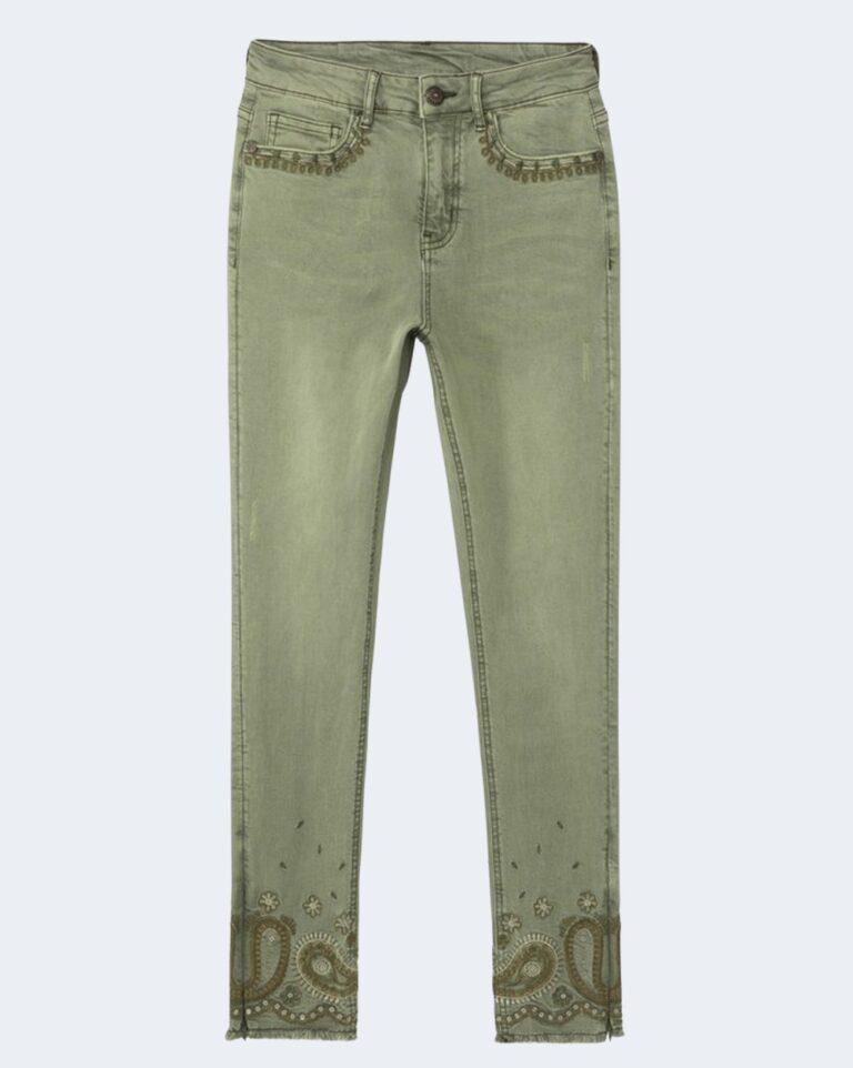 Pantaloni skinny Desigual ANKLE PAISLEY Verde - Foto 4