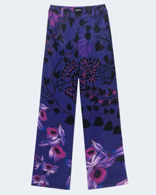 Pantaloni a palazzo Desigual GARDENIA Viola - Foto 2