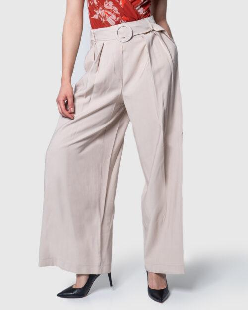 Pantaloni a palazzo Akè TIBETAN CINTURA Beige – 45379