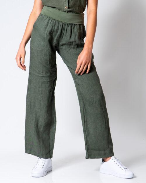 Pantaloni a palazzo Akè BLU Verde Oliva – 52149