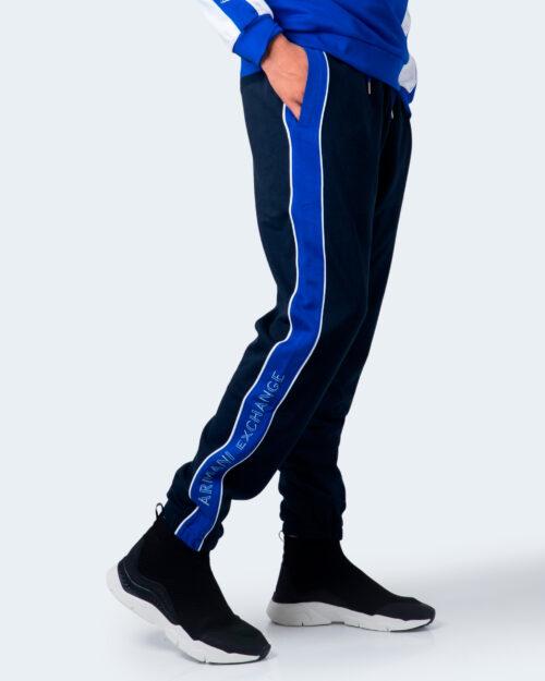 Pantaloni sportivi Armani Exchange Bicolore banda laterale Blu – 59919