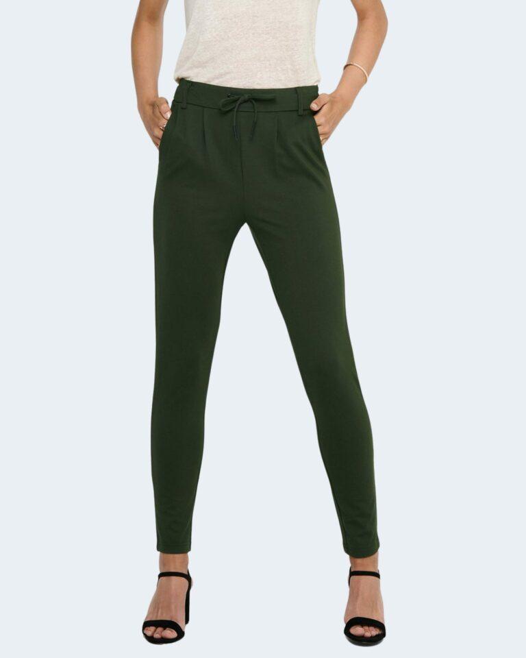 Pantaloni Only Poptrash Verde Scuro - Foto 1