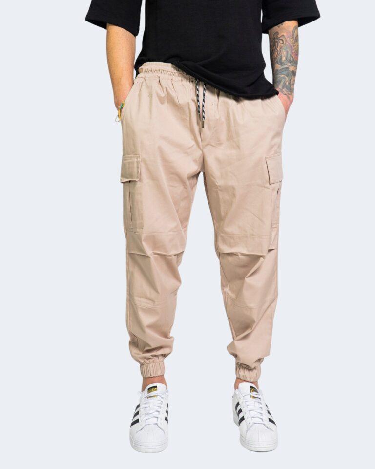 Pantaloni con cavallo basso Hydra Clothing TASCHE LATERALI Beige - Foto 1