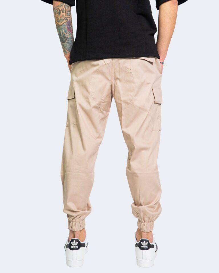 Pantaloni con cavallo basso Hydra Clothing TASCHE LATERALI Beige - Foto 3