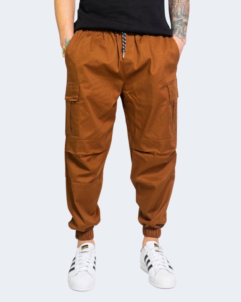 Pantaloni con cavallo basso Hydra Clothing TASCHE LATERALI Mattone - Foto 1