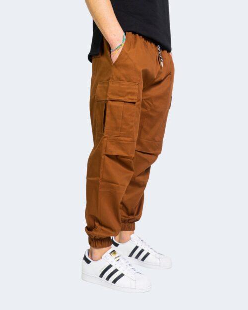 Pantaloni con cavallo basso Hydra Clothing TASCHE LATERALI Mattone – 67893