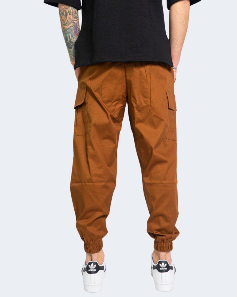 Pantaloni con cavallo basso Hydra Clothing TASCHE LATERALI Mattone - Foto 3